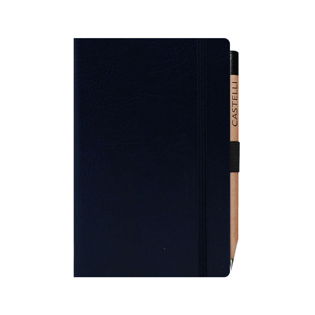 Sherwood pocket notebook with elasticated band, round corner and ivory pages
