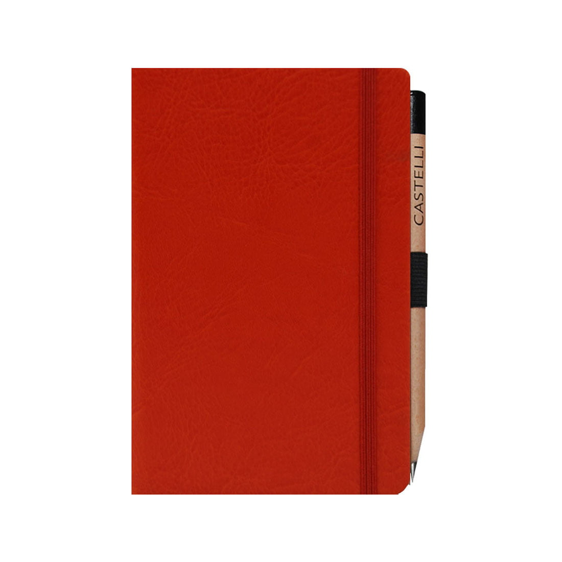 Pocket notebook with elasticated closure band, round corners and lined pages