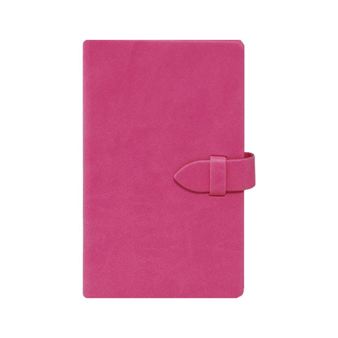 Medium notebook in pink with cream pages, clasp closure