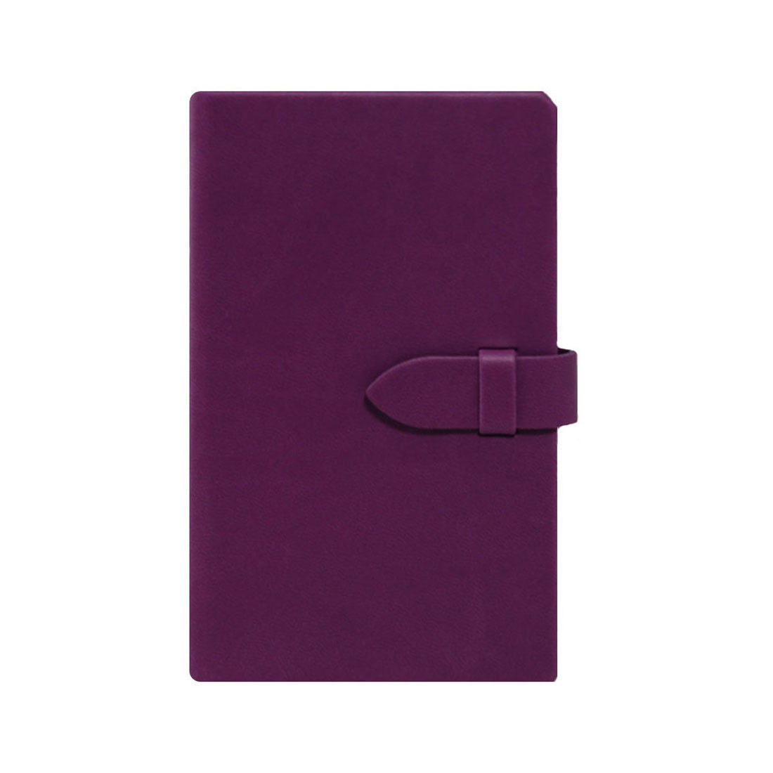 Pocket notebook with rounded corners and clasp closure.