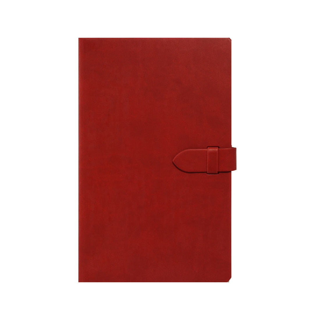 Medium pocket notebook with round corners and ruled pages.