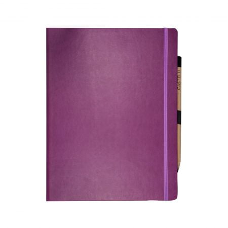 Soft touch Tuscon cover in purple, elasticated closure band.
