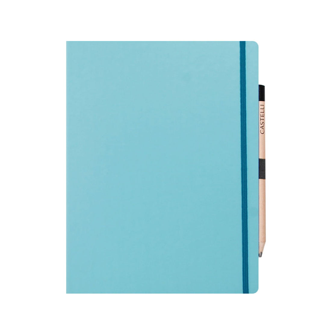 Tuscon soft touch cover note book with a retro style pencil.