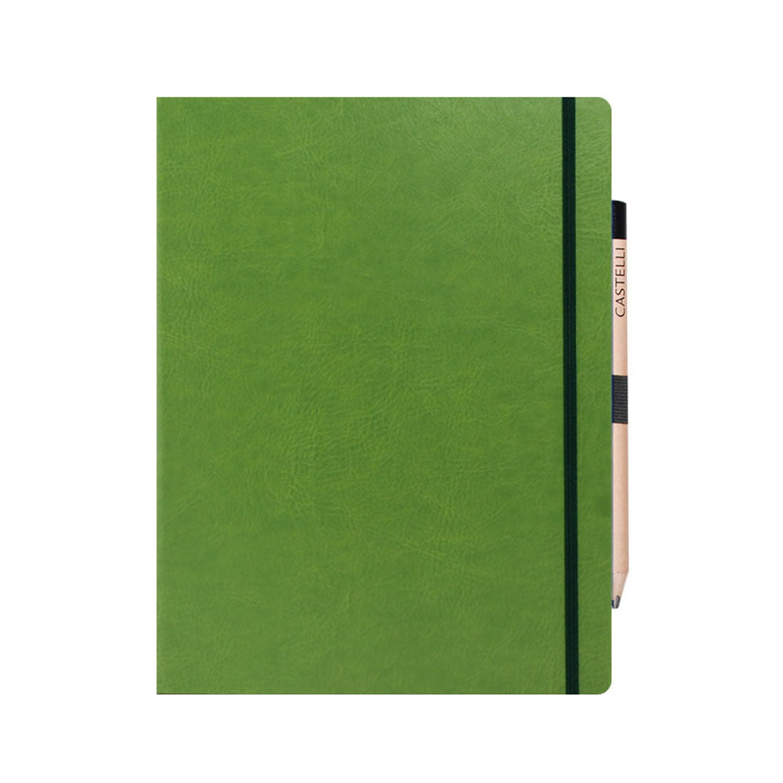 Notebook, large supplied with retro style pencil, internal document pocket.