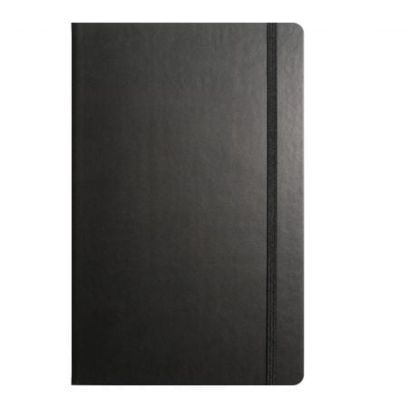 Medium, A5 note book, rounded corners, complete with pen.