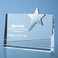 crystal horizntal award.