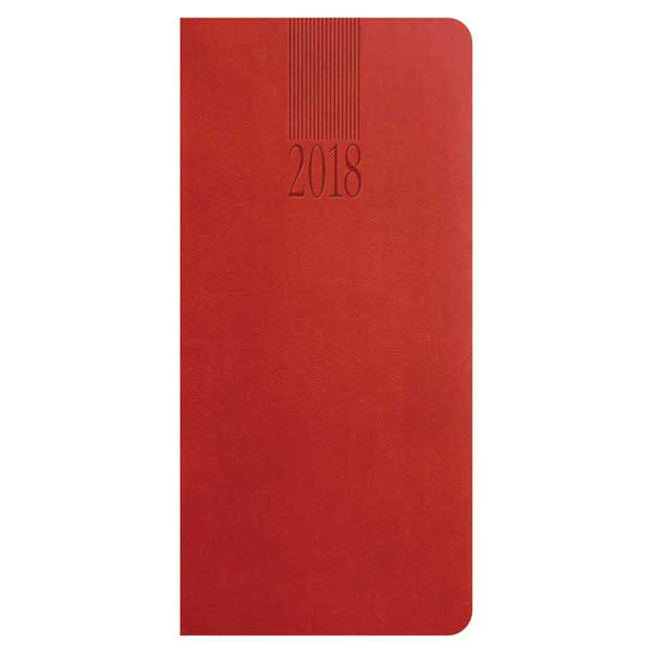Tuscon pocket diary, soft colver, in red with ribbon marker.