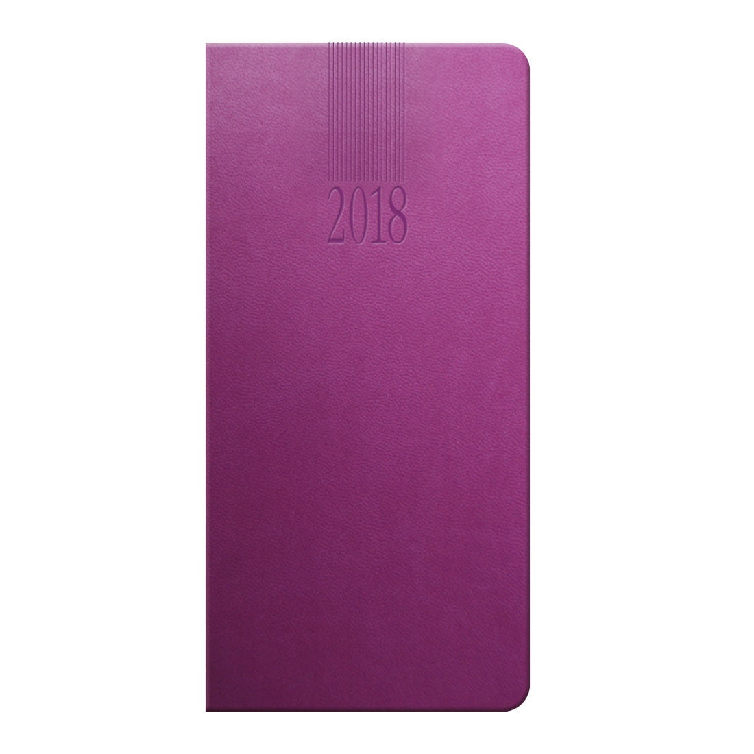 Tuscon weekly pocket diary in purple with a padded cover, ribbon marker, UK & World maps. Printed with your logo.