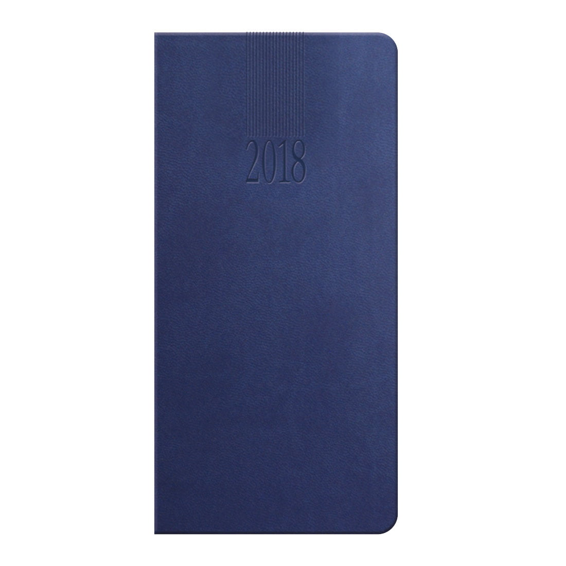 Tuscon weekly promotional pocket diary in China blue with a padded cover, ribbon marker.