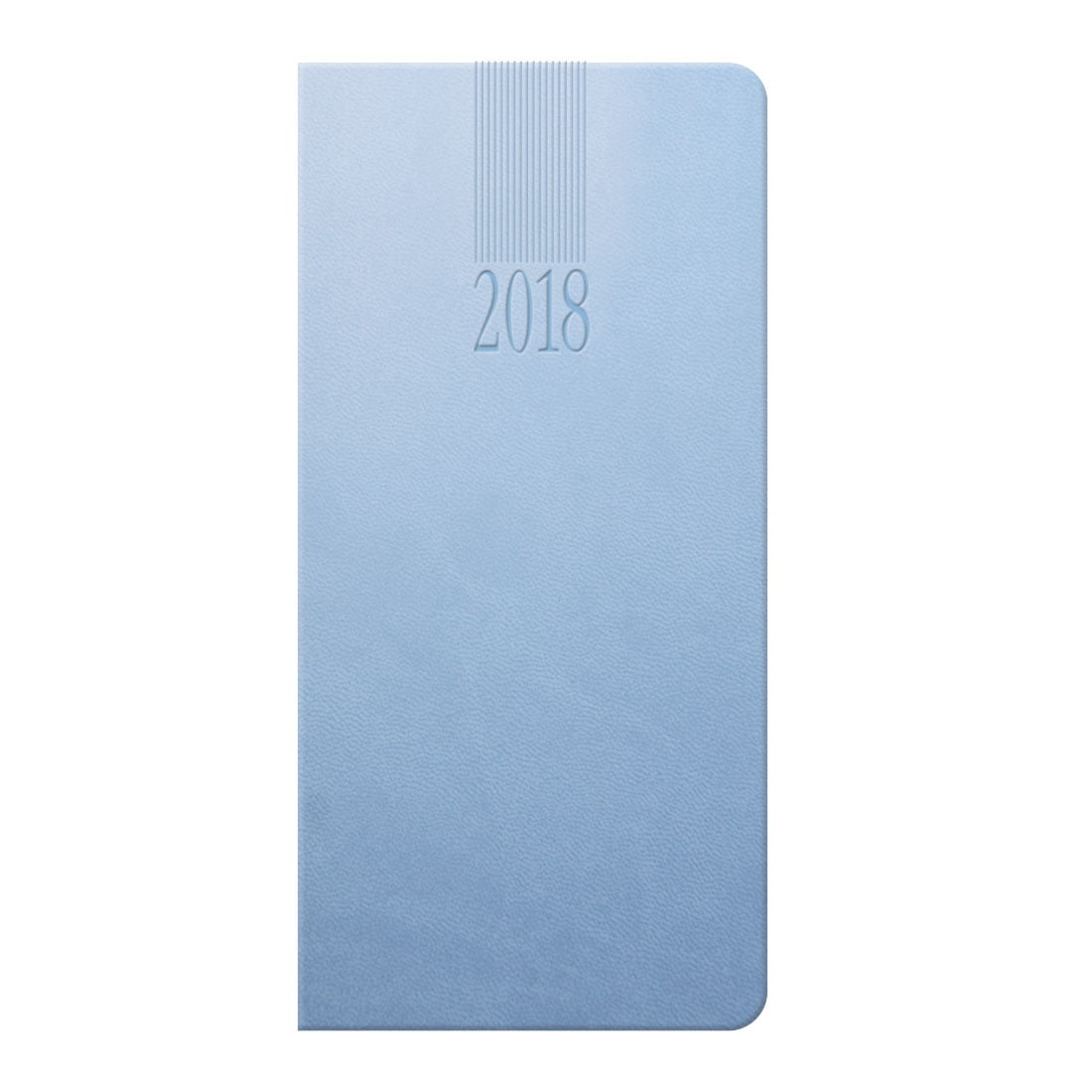 Tuscon weekly promotional pocket diary in baby blue with a soft touch cover