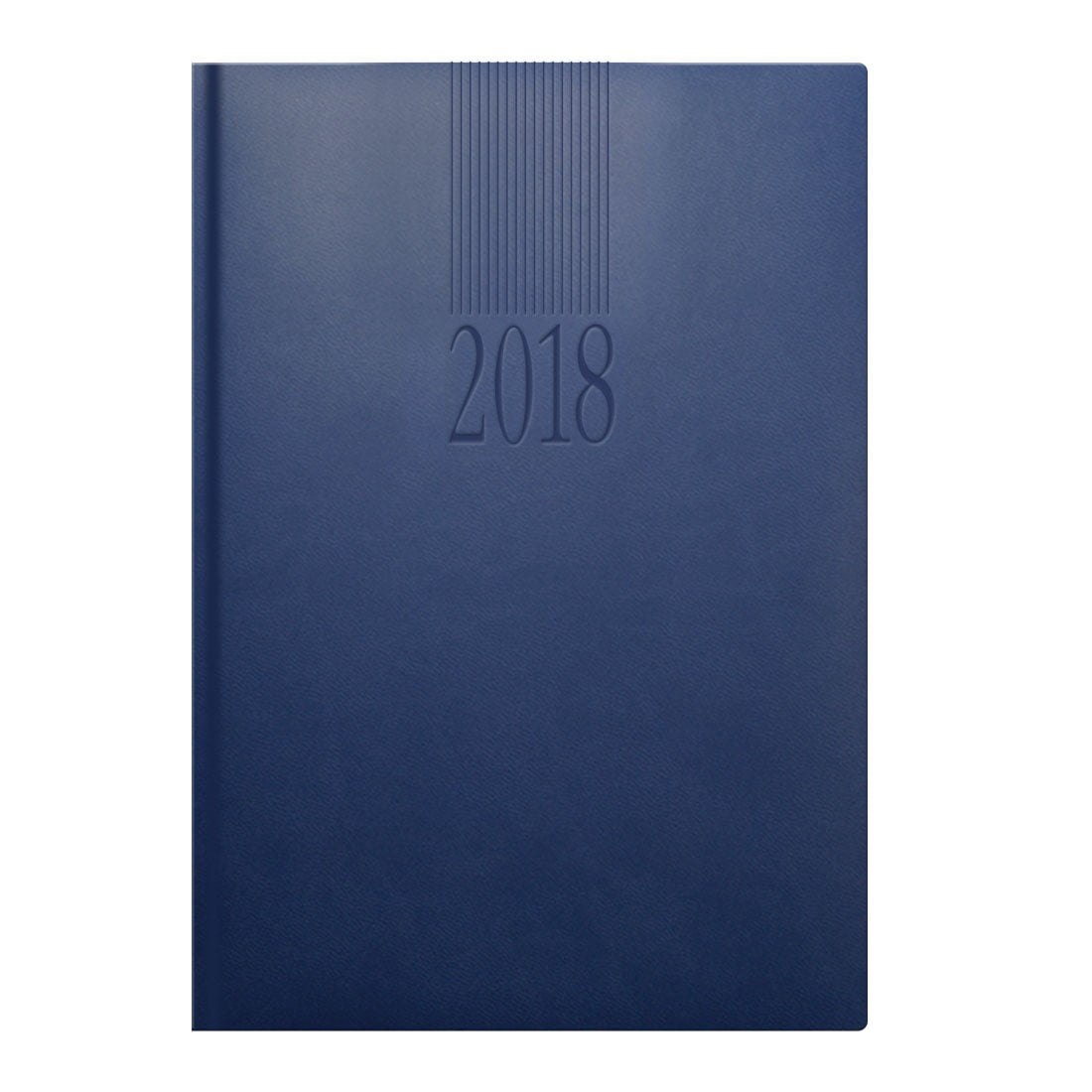 Tuscon A5 daily desk diary in China blue, luxurious padded cover, ribbon marker. Blind embossed with your company logo.