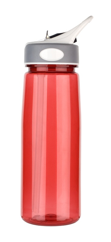 Printed sports bottle in red