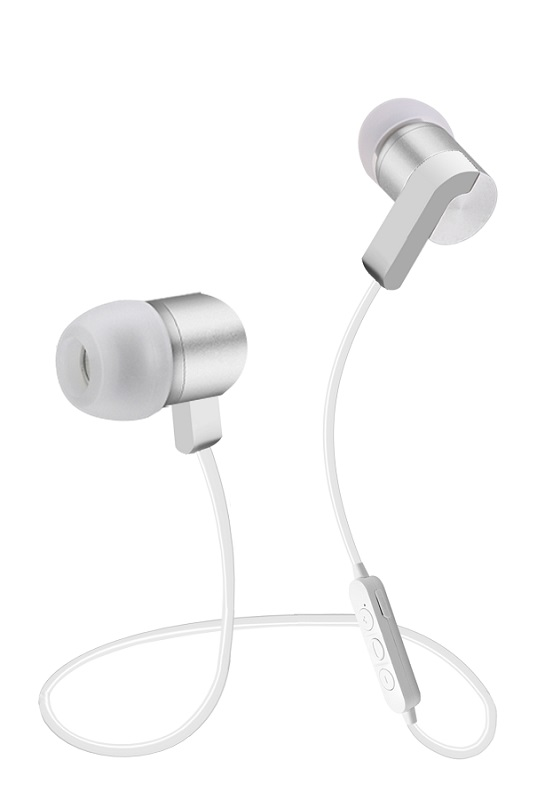 White Bluetooth headphone with CSr technology