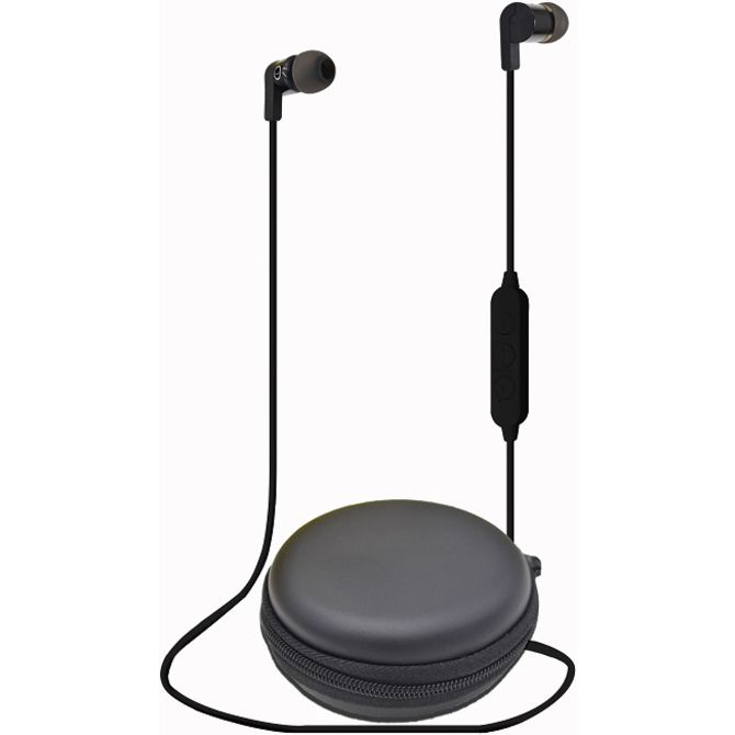 Bluetooth headphones with a case