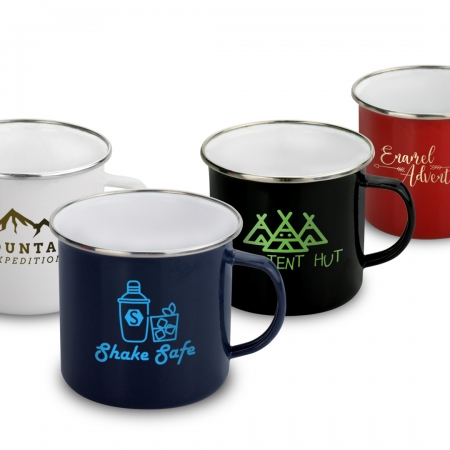 Retro Enamel mug in 4 colours, 420ml