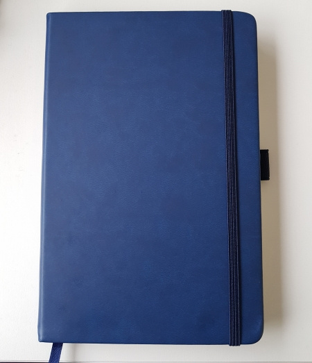 A5 Albany Note book with ribbon marker and pocket